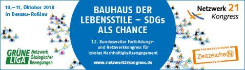 Netzwerk21Kongress 2018, Bauhaus der Lebensstile - SDGs als Chance