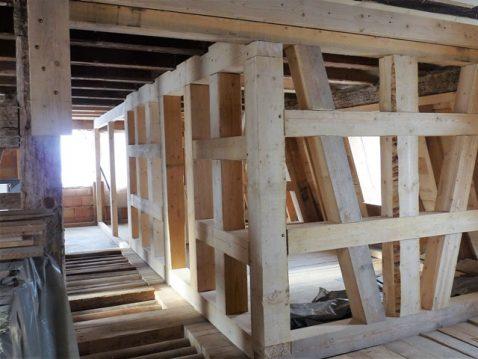 Renovierte Balken in einem alten Haus